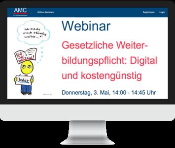 Gesetzliche Weiterbildung: Digital und kostengünstig
