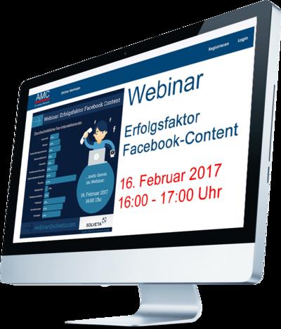 AMC-Online-Akademie: Webinar Facebook Content, 16.02.2017